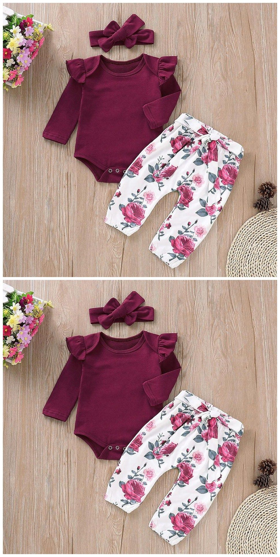 Baby Girl Clothes Soft And Comfortable T-shirt Pants Jumpsuit Sets At Any Cost Infant Kids Winter Baby Fashion Style Baby Boy Clothes Set Mother & Kids