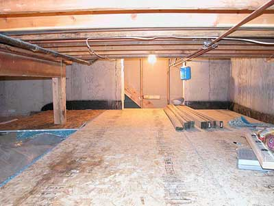 Basement Crawl Space Finally Finished Crawlspace Basement Remodeling Plans Crawl Space Storage