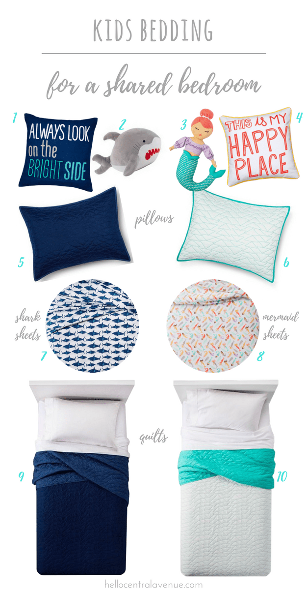 Kids Bedding for the Shared Shore House Bedroom images
