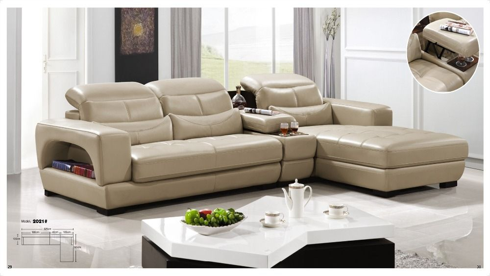 Iexcellent Designer Corner Sofa Bed European And American Style Recliner Italian Leather Set Living Room Furniture