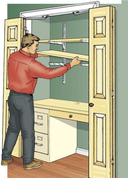 Build a Closet Office -   22 diy closet office ideas