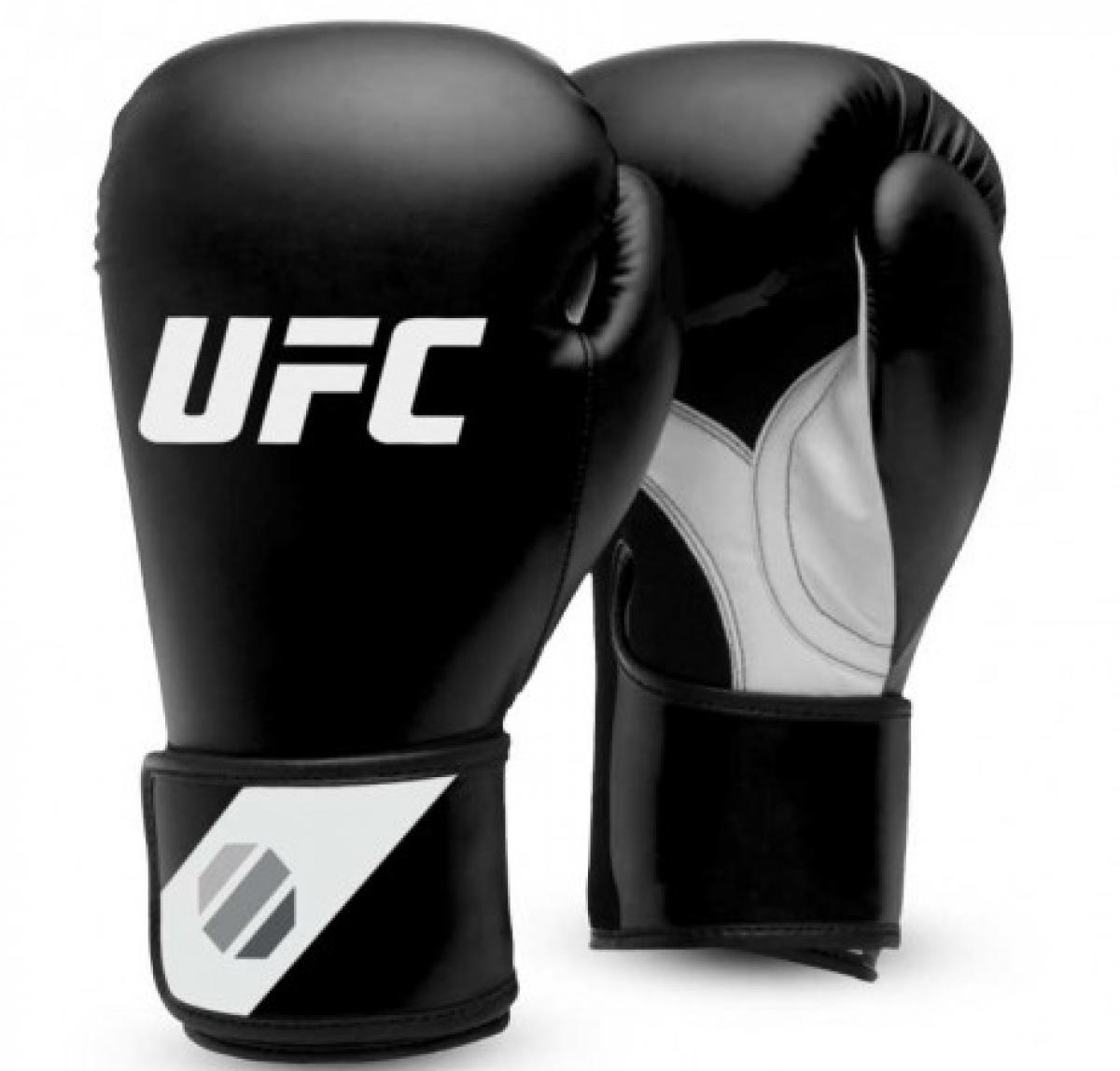 UFC Fitness Training Boxhandschuhe schwarz/weiß/silber
