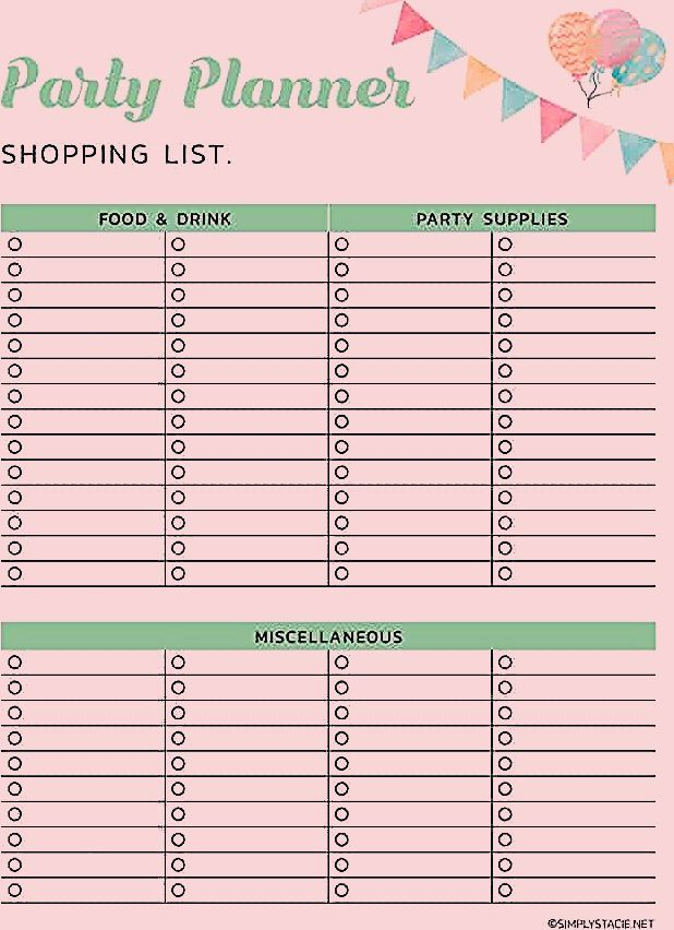 Photo of 9 Free Party Planning Printables to Keep You Organized