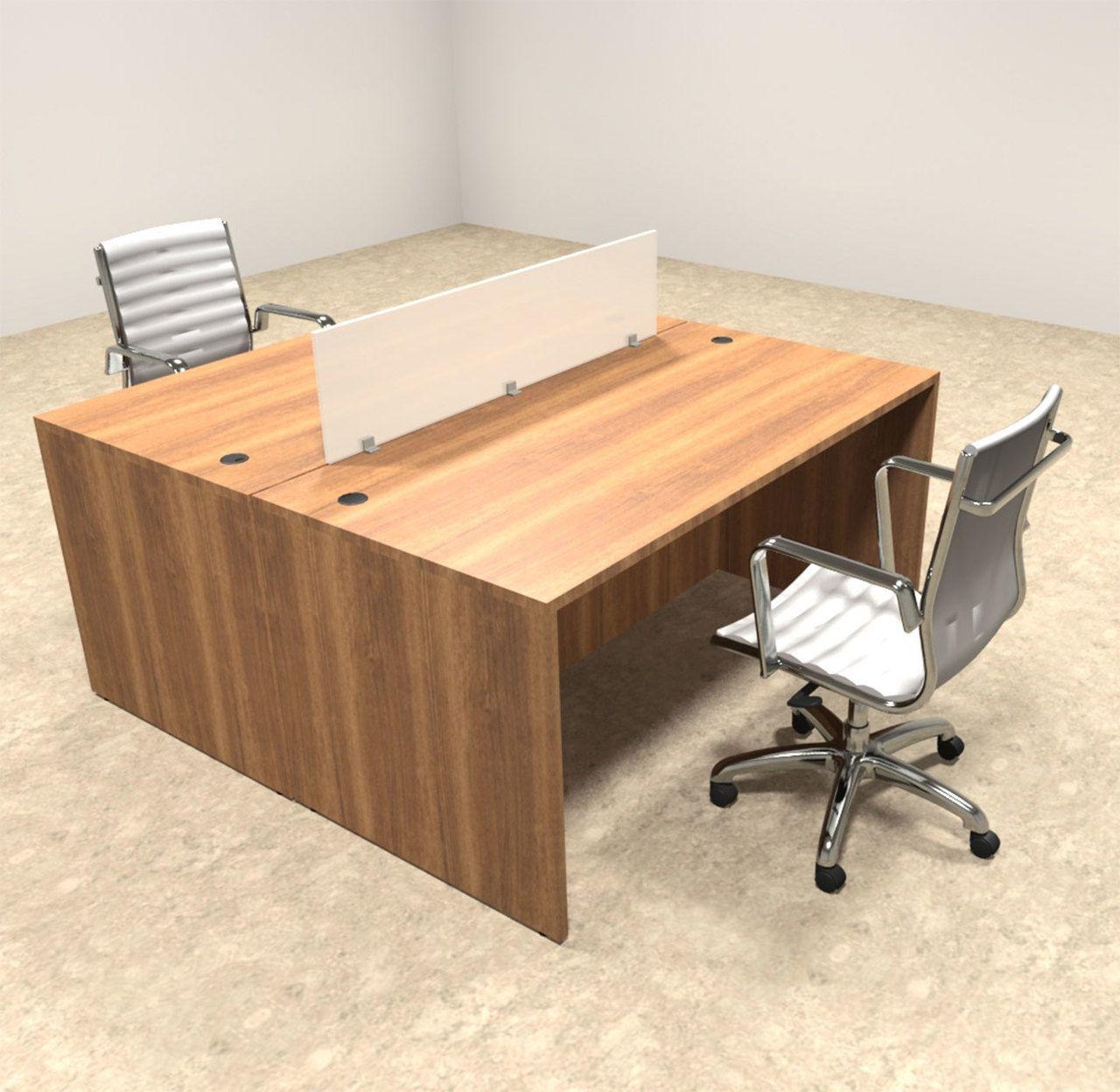 Two Person Modern Divider Office Workstation Desk Set Ot Sul Fp1