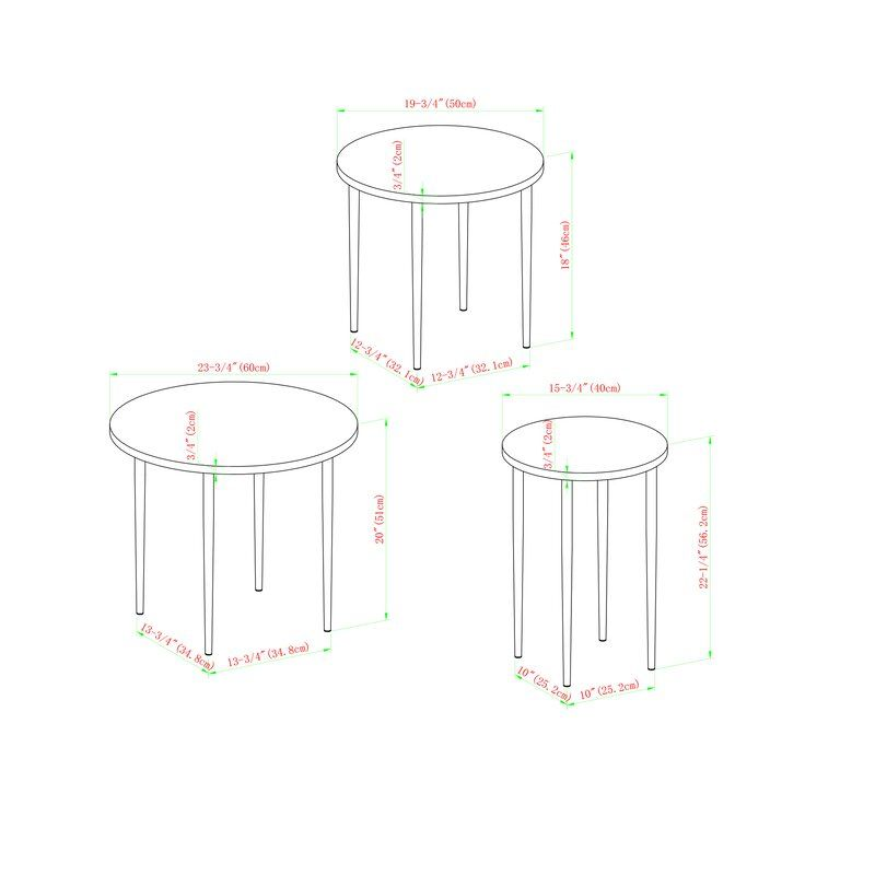 George Oliver Schmid 3 Piece Nesting Table Reviews Wayfair In 2020 Nesting Coffee Tables Table Settings Nesting Tables