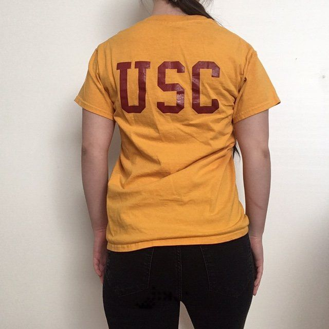 97afe5ee Yellow university ( usc ) inspired t-shirt🌼 USC printed on - Depop ...