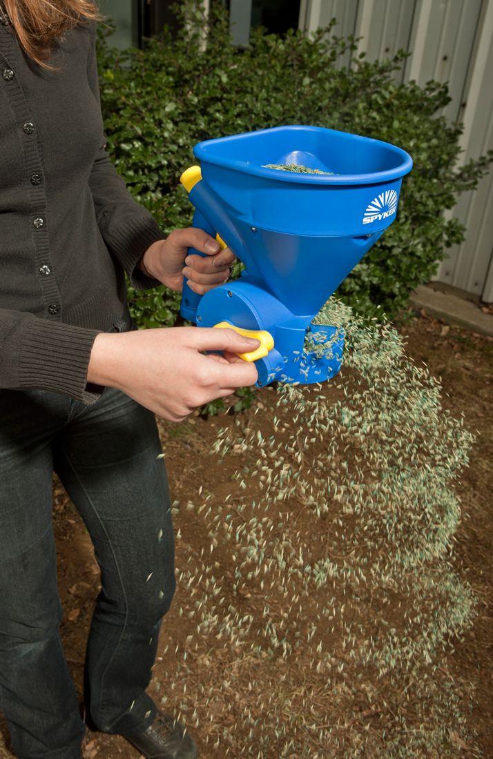 Hand-Held Fertilizer Power Spreader Scotts Wizz Feed Seed Weed Garden Sower Yard