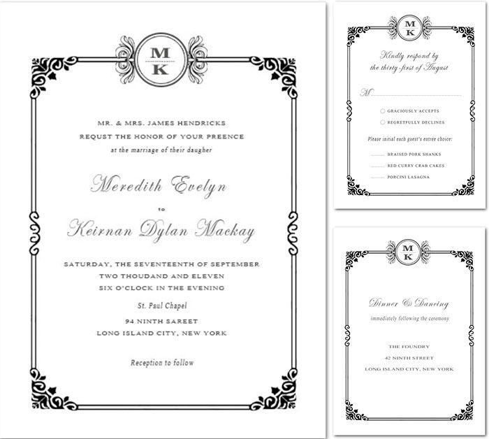 Simple White Wedding Theme: Simple White Wedding Invitations For All White Wedding