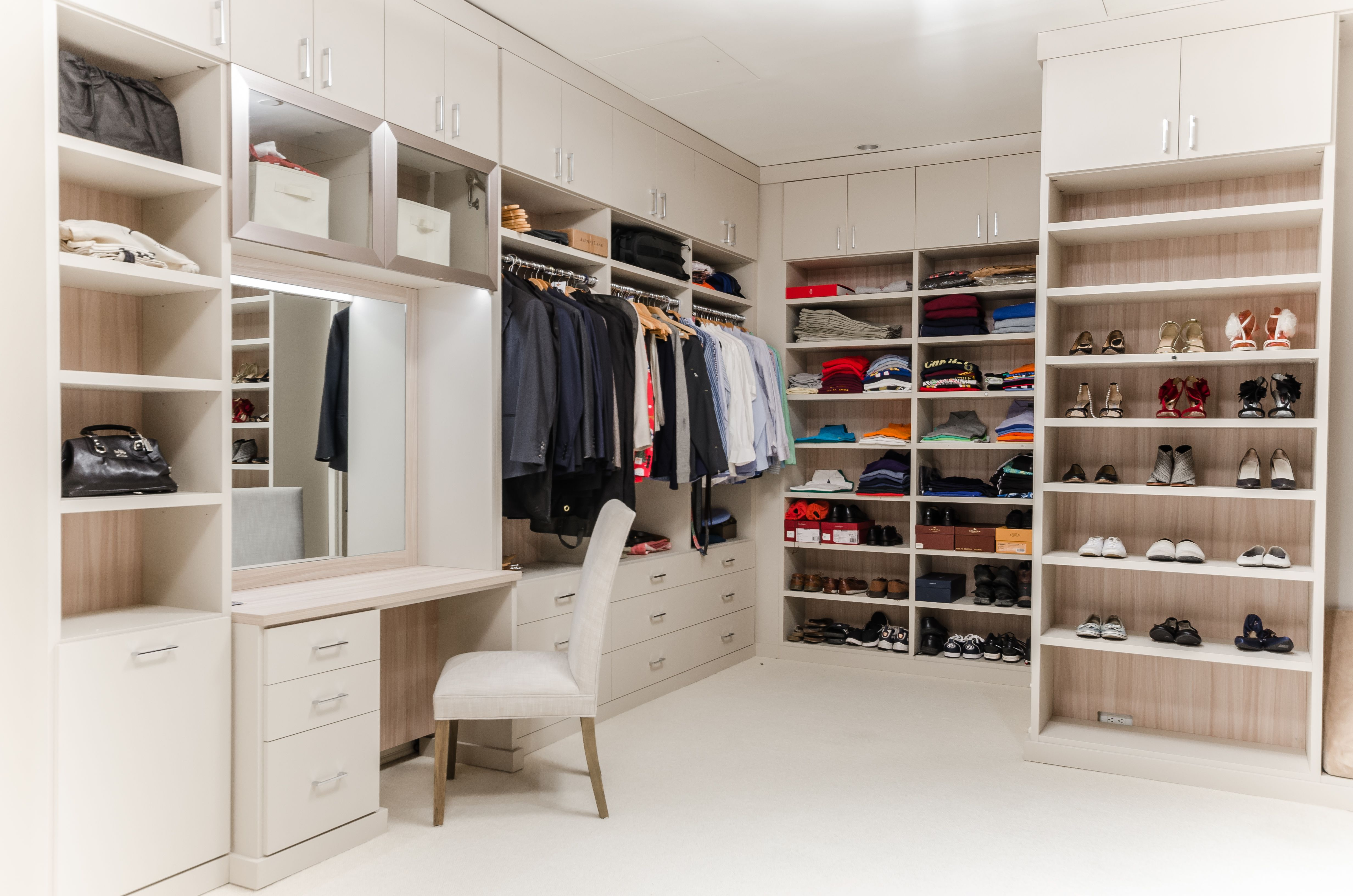 The Custom Finishes And Dimensions Incorporates The Clients Vision Into This One Of A Kind Design Custom Closet Design Closet Storage Design California Closets