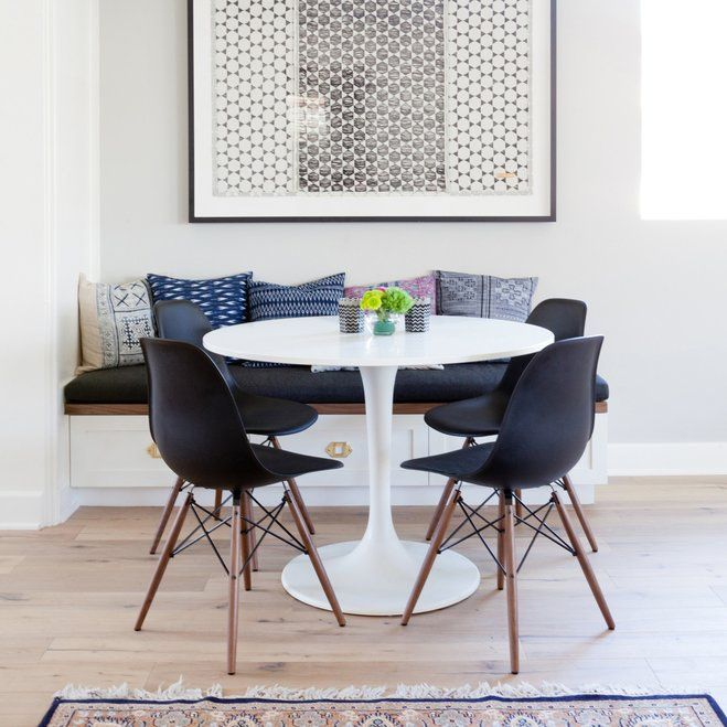 House Tour A Luxe Bohemian Family Home Wayfair Kitchen - Wayfair small dining table