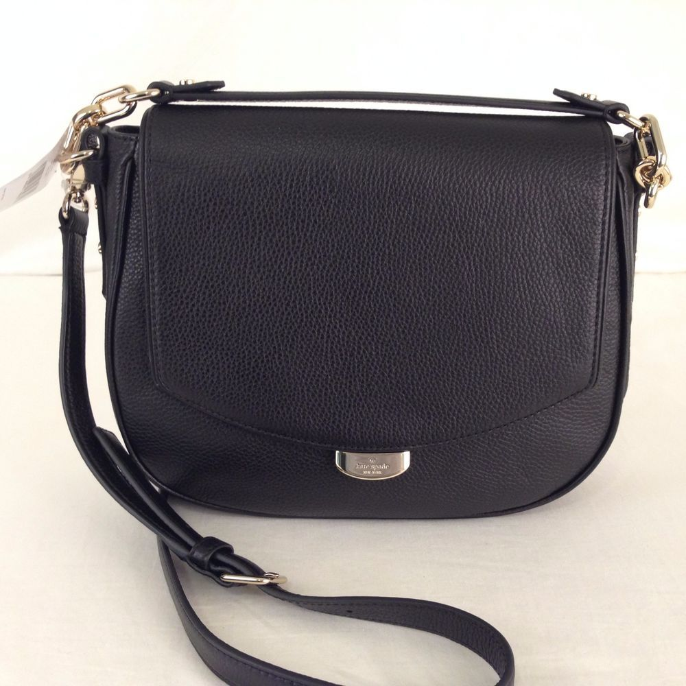 ... 50% off kate spade mulberry street alecia pebbled black leather  shoulder bag handbag ebay 78f76 77708d460956d