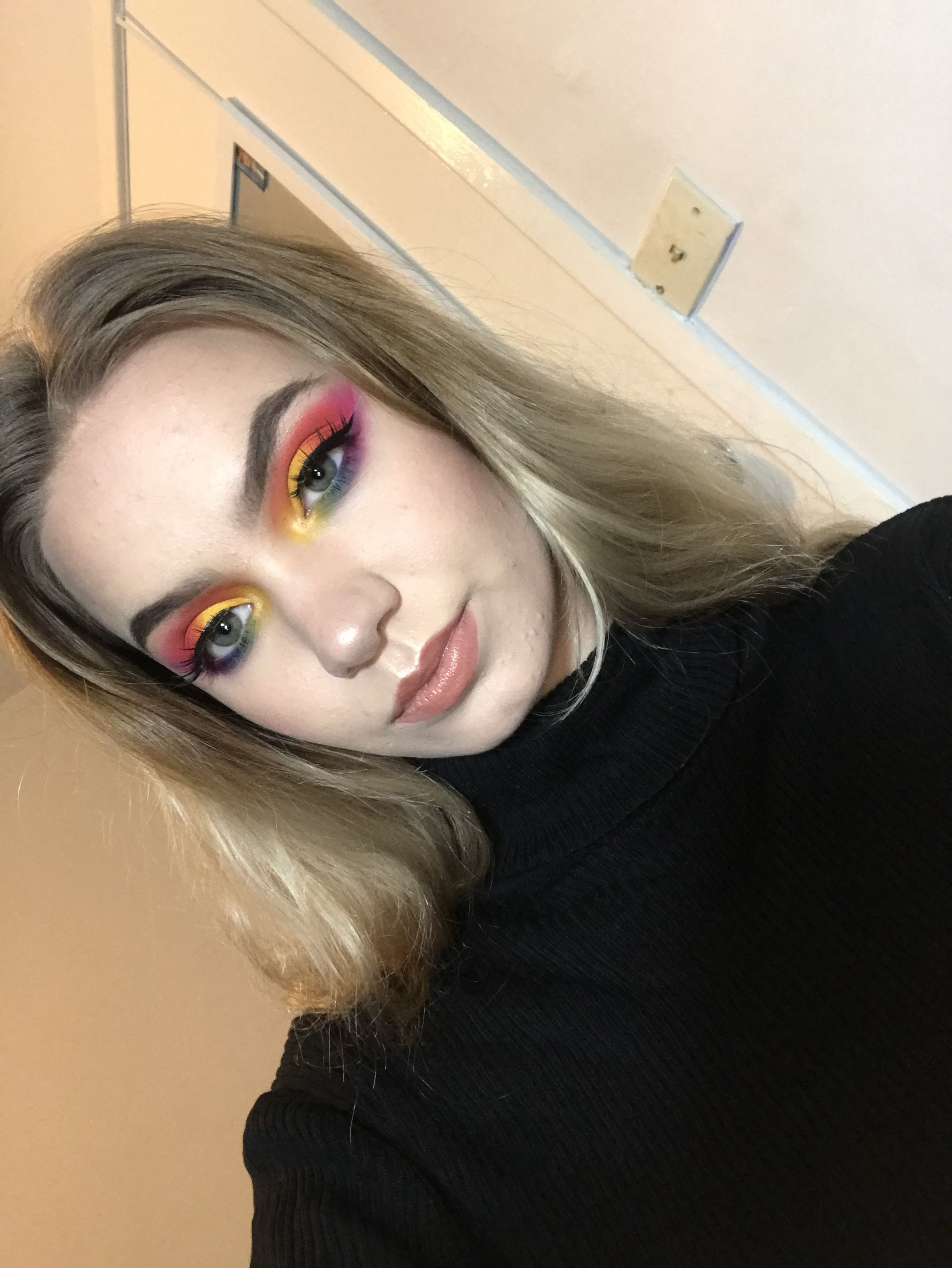 Morphe 35B Palette Pride Month Look Rainbow Eyeshadow