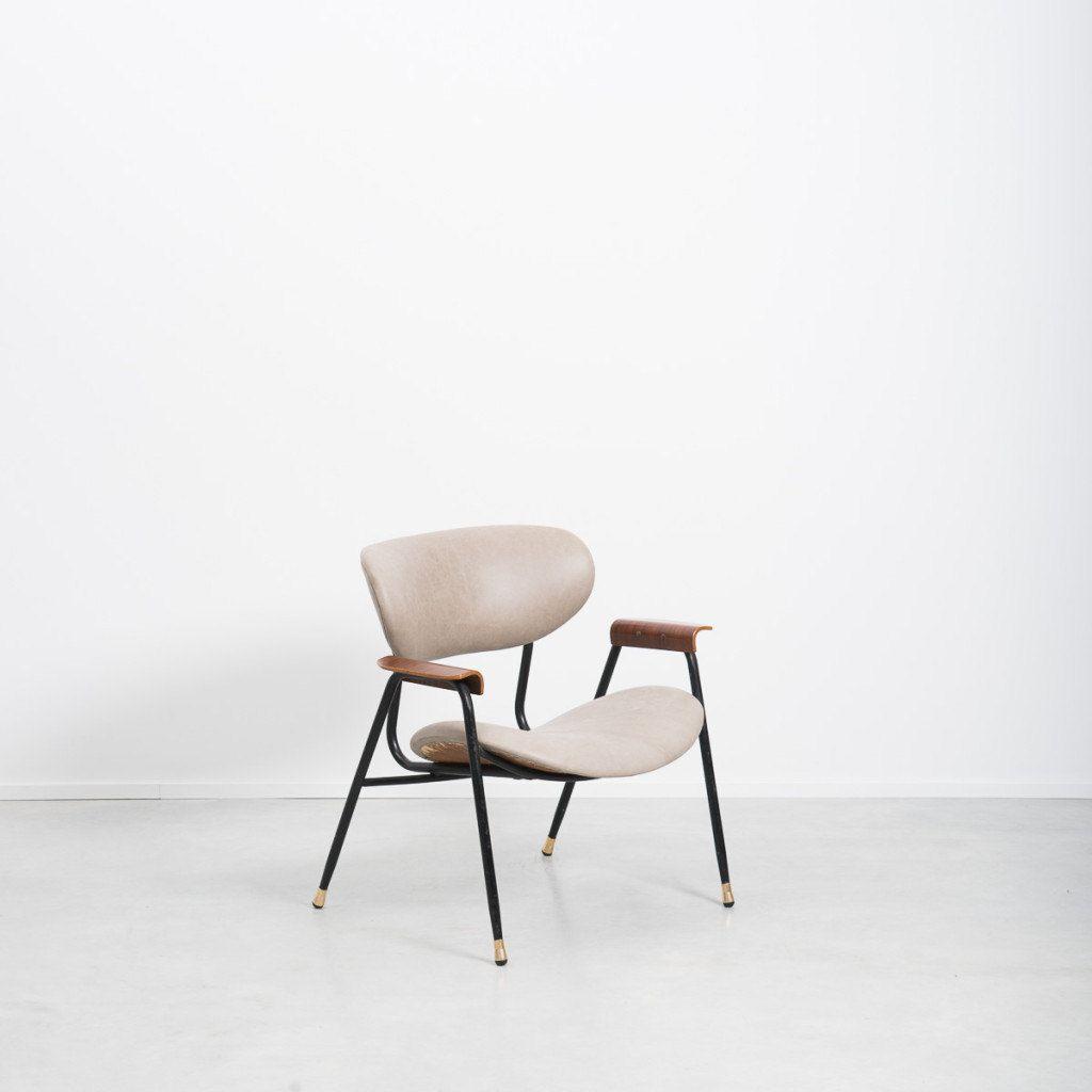 Poltroncina Gastone Rinaldi leather armchair for RIMA vintage chair MOLLINO design di LittleOld su Etsy