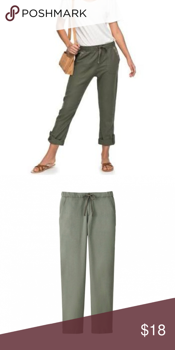 54a15cb35bc8 Uniqlo Cotton Linen Relaxed Pants These comfy women s pants feature the  soft