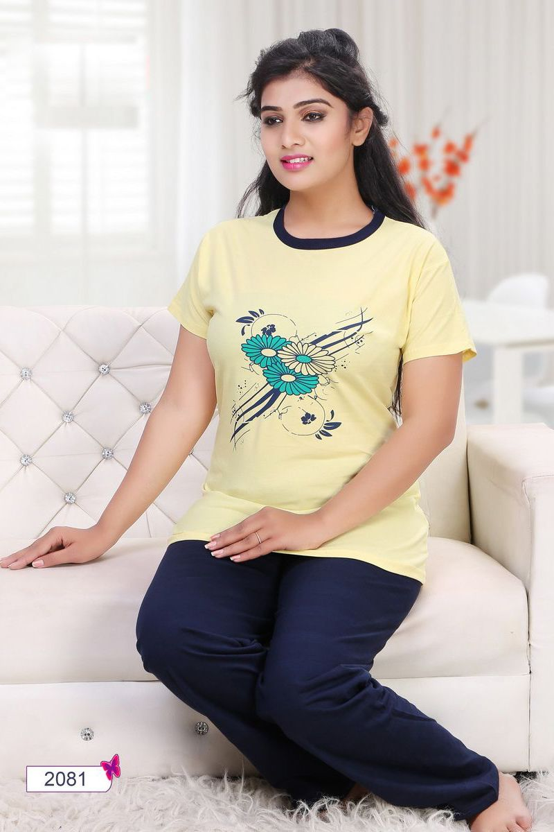 30a1f4ae15 Whatsapp  - +91 9377709531 Yellow-Simple-Cotton-Womens-Night-Wear-Top-And-Pant-In-Factory-Rates-2081-12538   wholesale  bulk  wholesalesupplier ...
