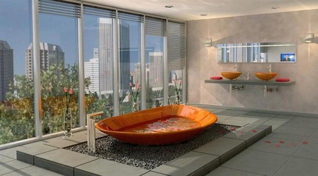 Check out this collection of 16 splendid wooden bathtubs as a focal
