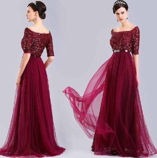 Abiye Orta Yas Yarim Kollu Google Da Ara Vestidos De Noite Vestido De Madrinha Longo Vestidos De Noiva De Manga Comprida