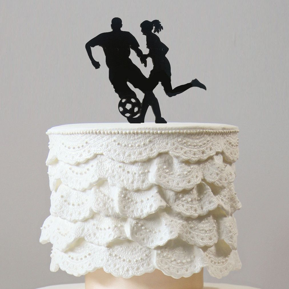 Football Cake Topper Party Decoration Soccer Player