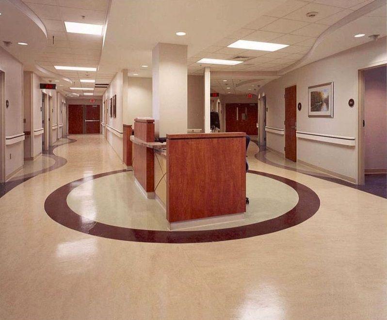 Non Directional Homogeneous Vinyl Flooring Use In Hospital Hospital Interior Floor Design Vinyl Tile Flooring