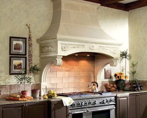 Florentine Cast Stone Kitchen Range Hood Traditional Kitchen Hoods And  Vents, Old World Stoneworks
