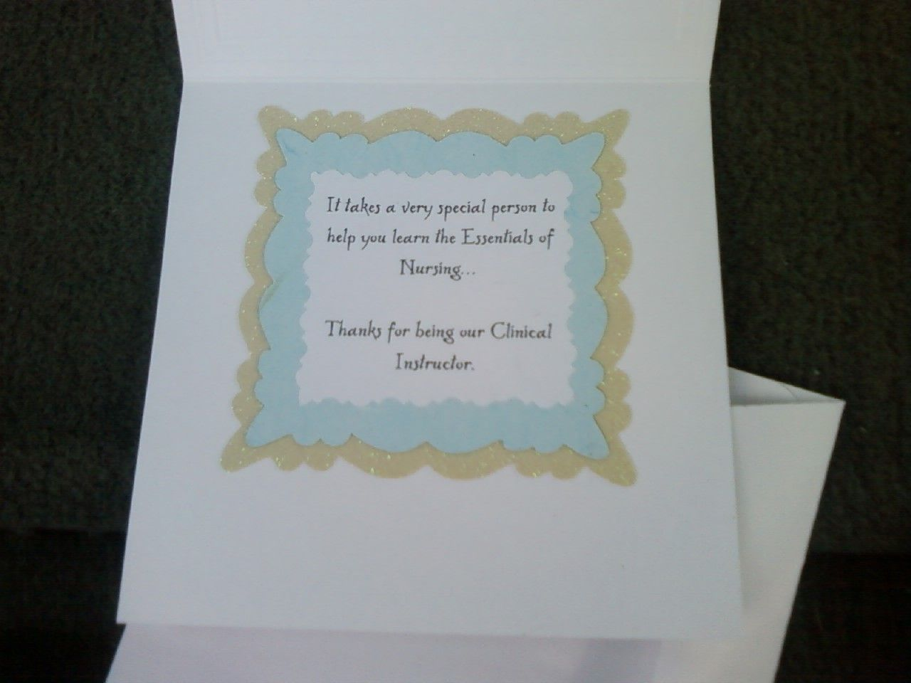Thank You Card For A Nursing Clinical Instructor 3 Interior