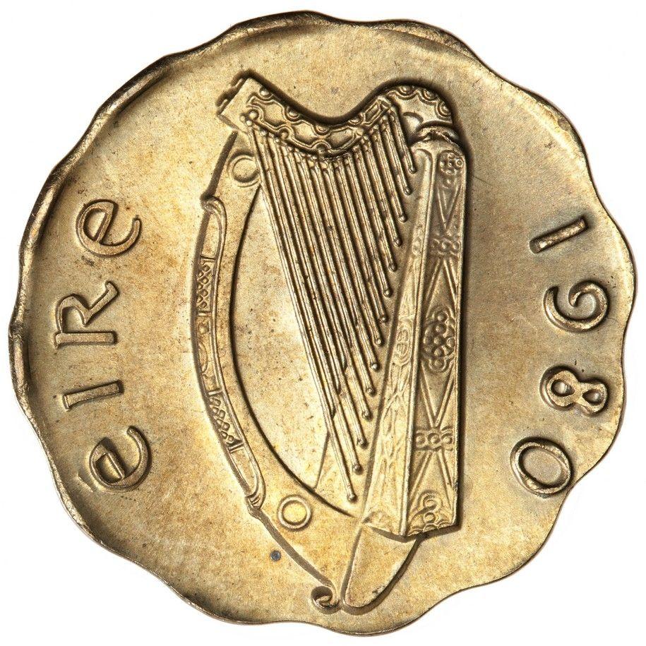 Ireland 1 Penny 1980 Struck On Wrong Planchet 2 62g Error Ms 67