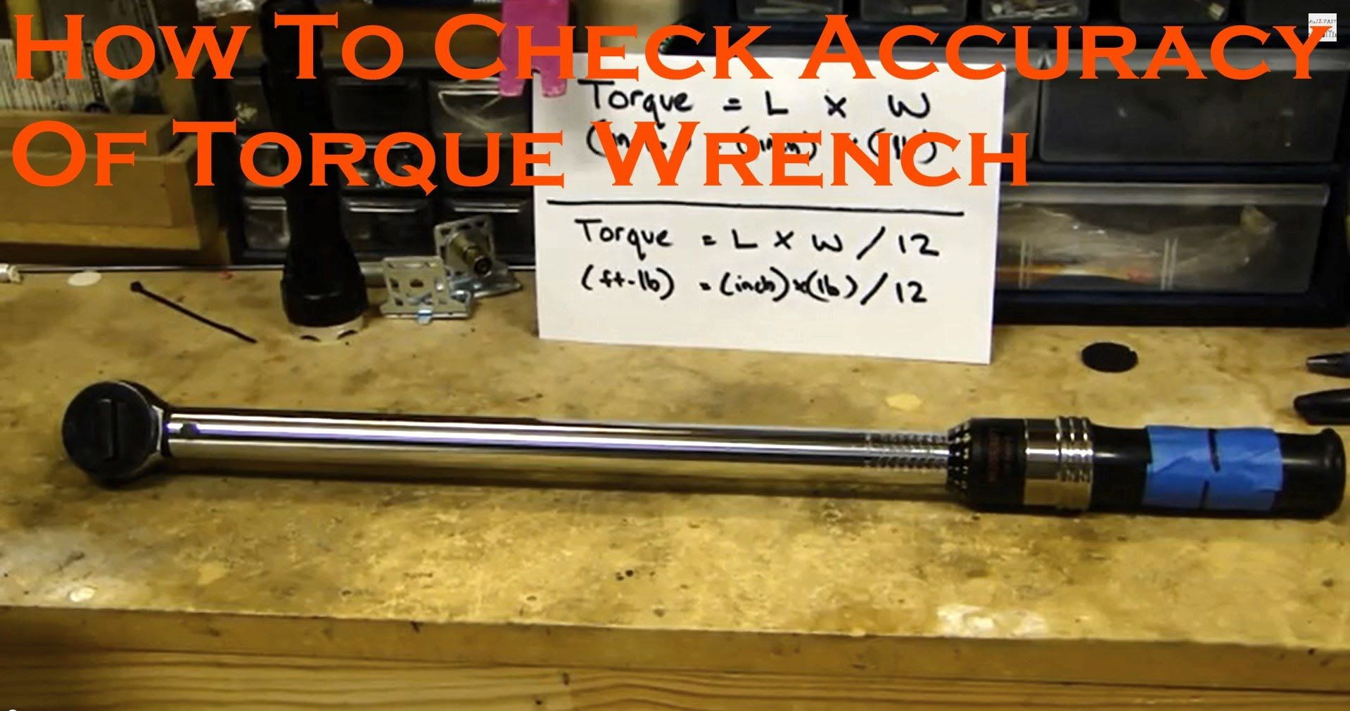 How to Check Calibration Accuracy of Torque Wrench (Video