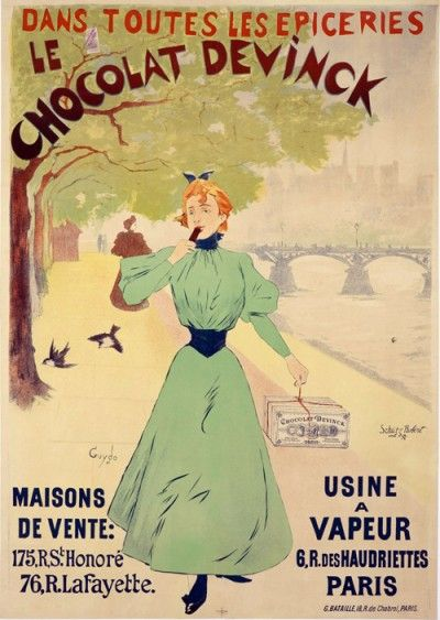 vintage advertisement French chocolate