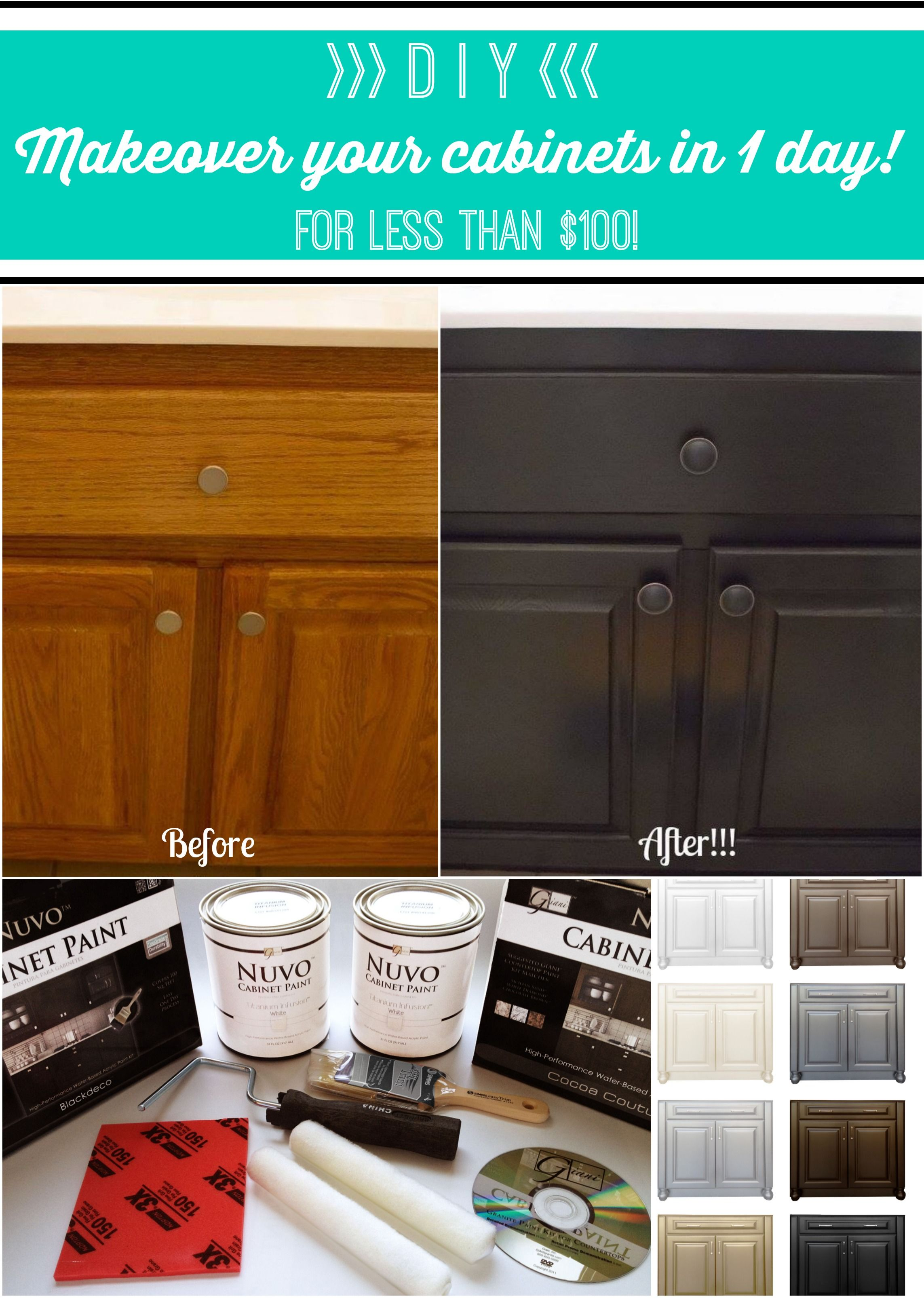 Nuvo Cabinet Paint By Giani Inc Www Nuvocabinetpaint Com Love My Nuvo Cabinets I Used The Ever Painting Cabinets Nuvo Cabinet Paint Clean Kitchen Cabinets