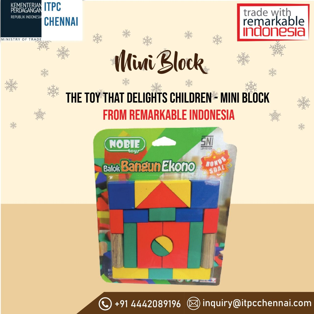 The mini block plaything from radinka craft toys is made