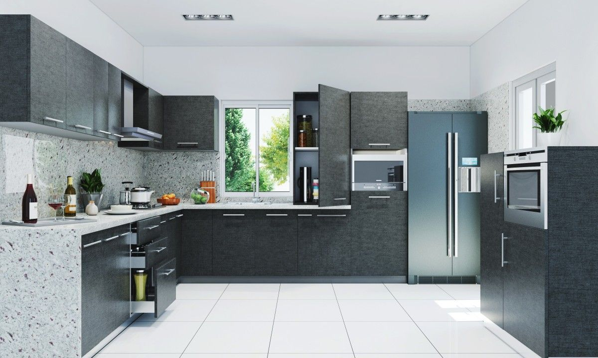 l shaped modular kitchen designs catalogue - Google Search | kitchen ...