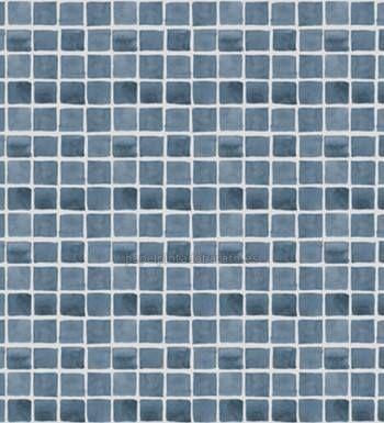 Papel pintado para ba os con gresite ideal texturas - Papel pintado sobre azulejos ...