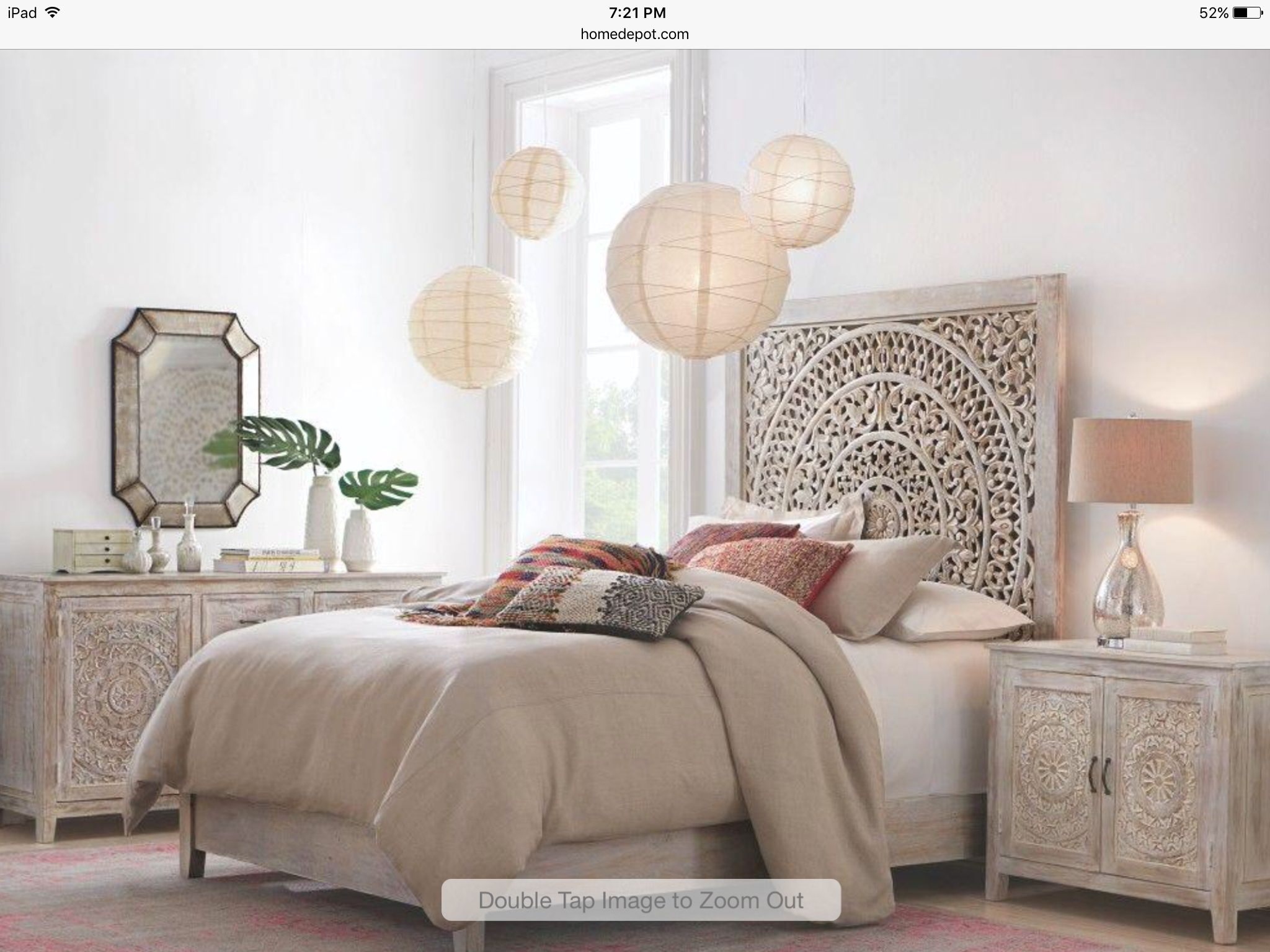 Fesselnd Home Decorators Collection Chennai Modern King Size Platform Bed In  Whitewash 9467810410 At The Home Depot   Mobile
