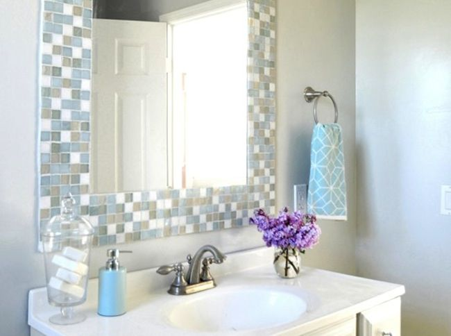 1000 Ideas About Mirror Border On Pinterest: Easy, Mirror Makeover And Mirror Mosaic