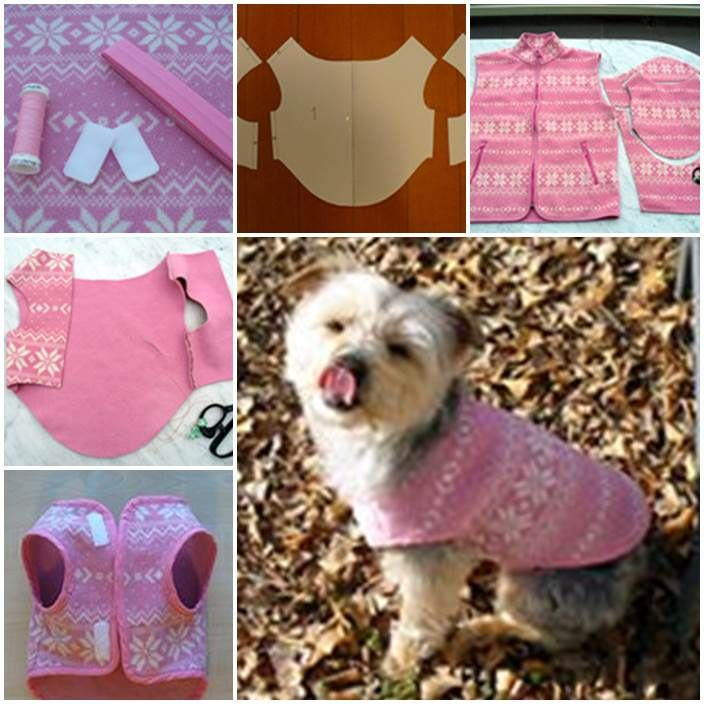 Diy Easy Dog Fleece Jacket Dog Clothes Diy Dog Stuff