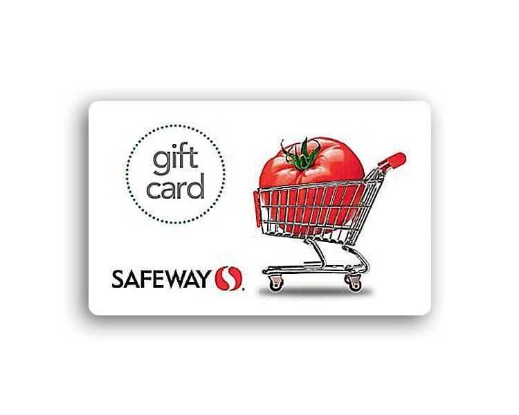 100 safeway gift card ecard sent via email includes