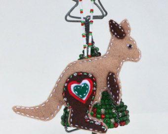Unique Australian Christmas Decoration Kangaroo Christmas Decorations Australian Felt Christmas Decorations Aussie Christmas