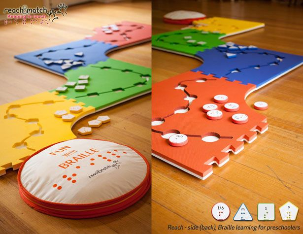 Classroom Design For Visually Impaired : Reach match braille learning toy by lau shuk man i want