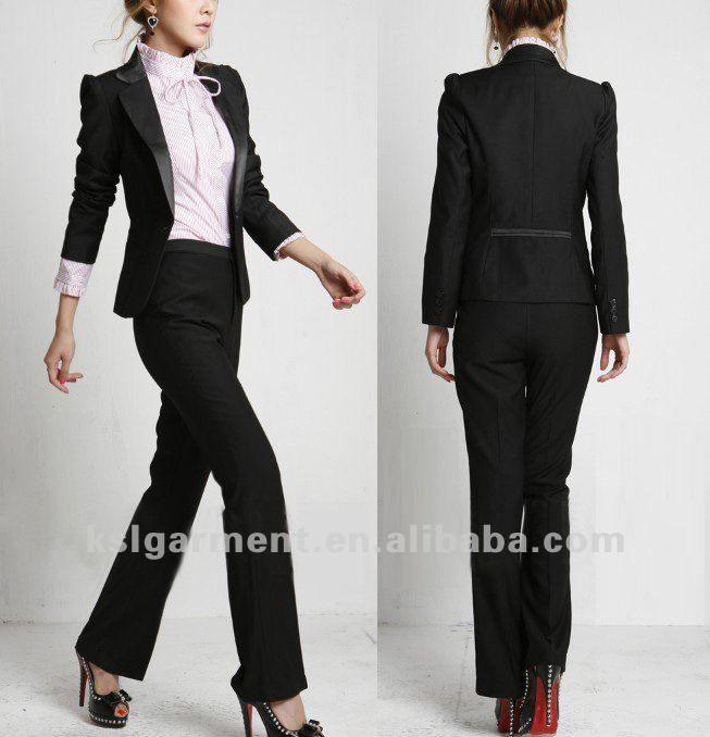 Suits & Sets Pant Suits Pant Blue Pant Suits Formal Ladies Office Ol Uniform Designs Women Elegant Business Work Wear Jacket With Trousers Sets Radient Jacket