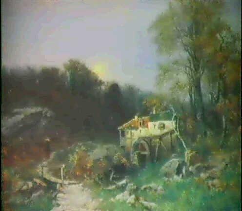 Carl Saltzmann - Thüringer Herbstlandschaft im Mondschein (1873)
