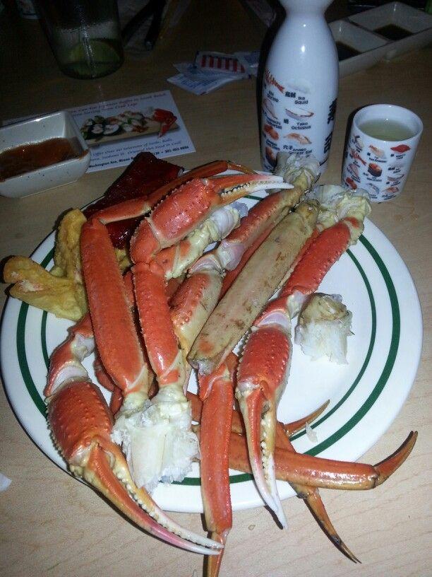 Crab legs and sake! #life - Great Deals at www.AlaskaKingCrabs.com