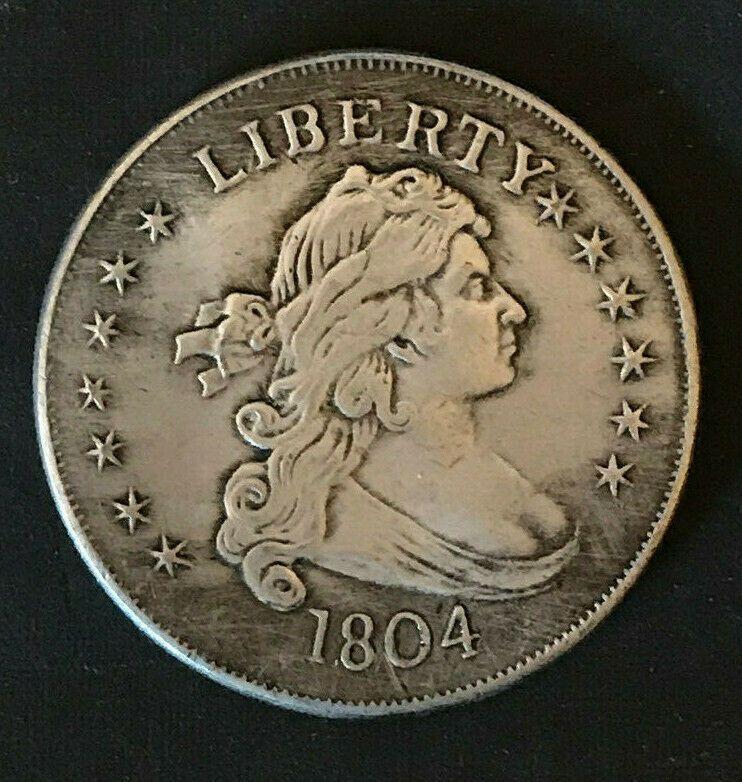 1804 Early Liberty Silver Dollar Collectible Coin Circulated Coin Collecting Coins Silver Dollar
