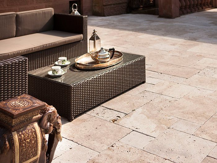 Faites Une Terrasse Au Style Oriental Stonenaturelle Travertin