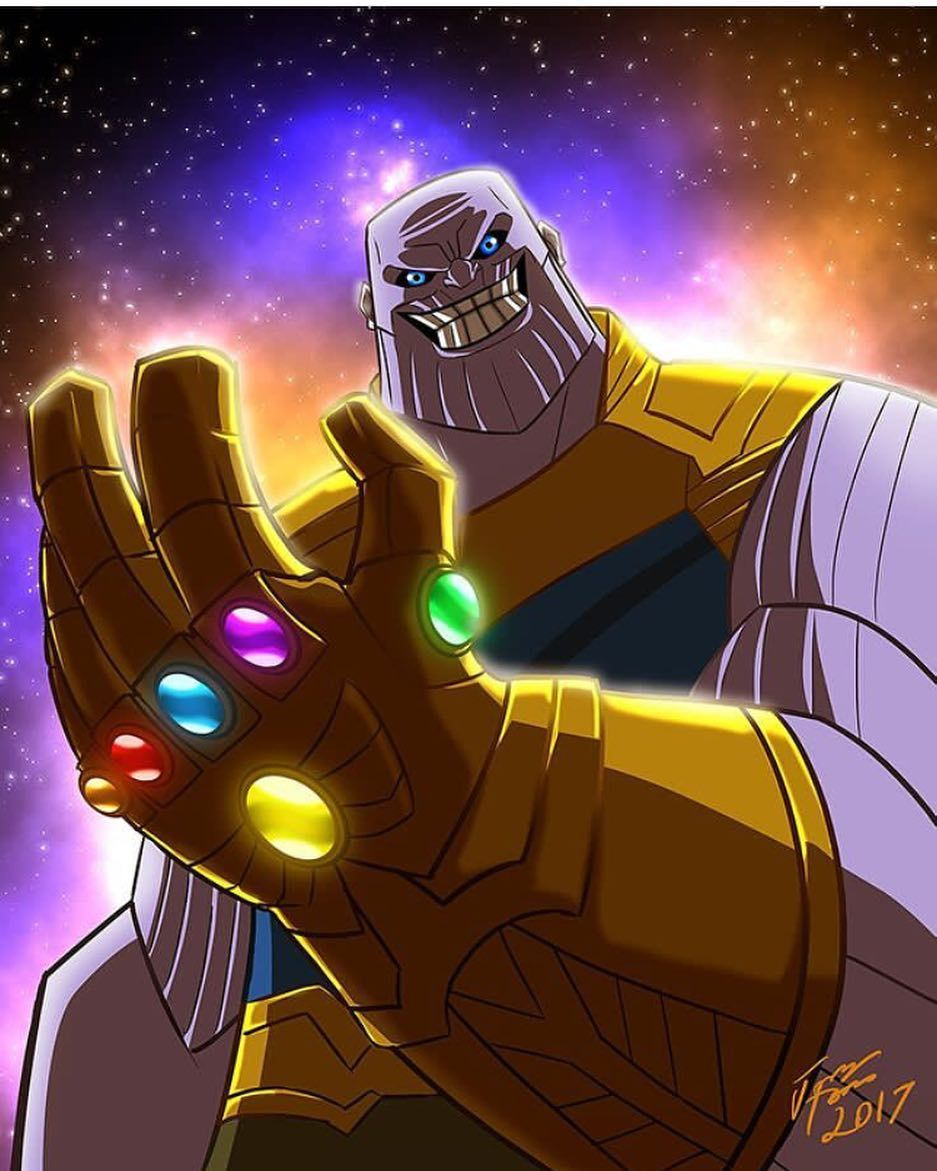 Awesome #Thanos with the#InfinityGauntlet! #Art by ...