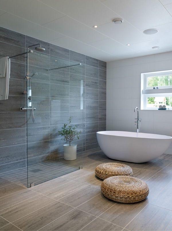 Bad Offene Dusche Glas Grau Weiß Badezimmer Trends, Badezimmer Design,  Badewannen, Bäder Duschen