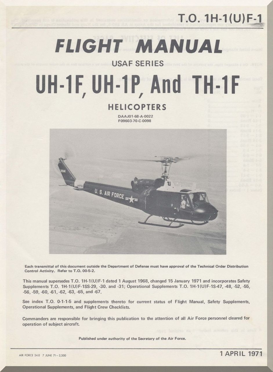 bell helicopter uh 1 f p and th 1f aircraft flight manual t o 1h rh pinterest com dcs uh 1 manual uh-1 manual