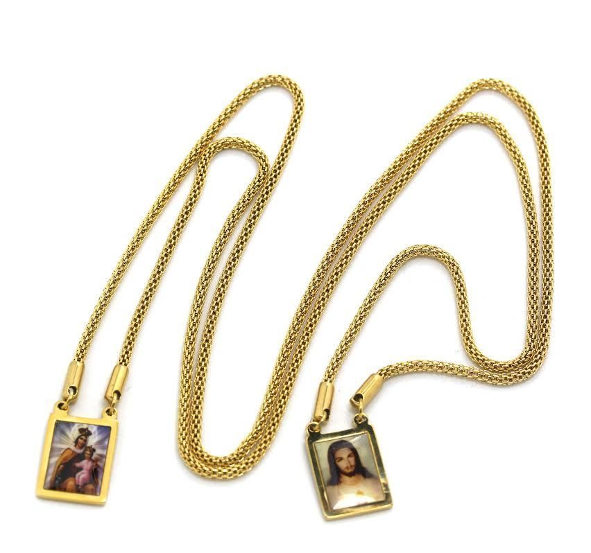 saint head my grace antique in necklace pendant pearl of garment scapular hero gold wearable over with blessings
