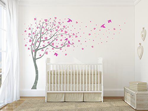 Le grand amour élégant arbre sticker mural en vinyle mat qualité designdivil wall art https
