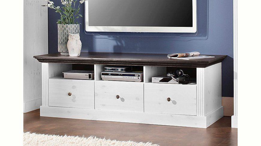 TV-Lowboard, Home affaire, »Skanderborg«, Breite 145 cm Jetzt - Wohnzimmermöbel Weiß Landhaus