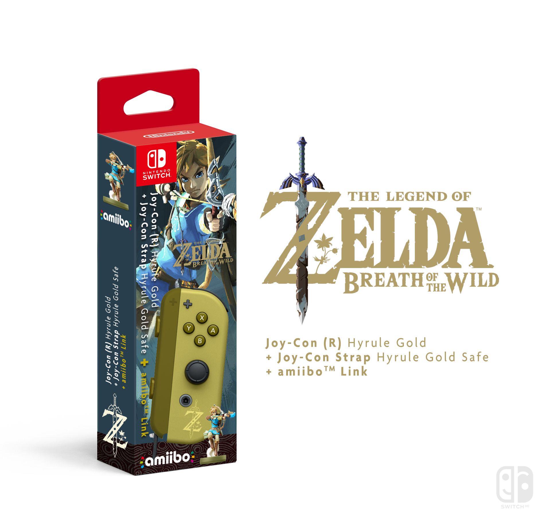 Joy Con R Zelda Breath Of The Wild Nintendo Collector Switch Grey Bundle 2game 2amiibo
